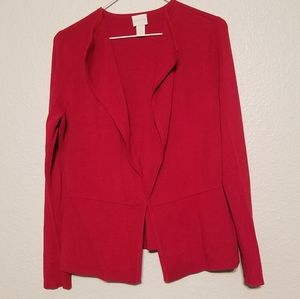 Chico's Red Cardigan Sweater Size 1